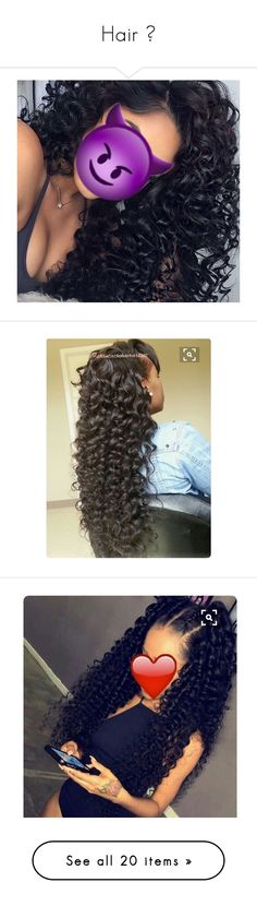 """""""Hair 😌"""" by teiana16 ❤ liked on Polyvore"""