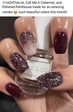 Sparkle & Co. has monthly subscription boxes! Great way to build your nail collection and try new products! #subscription #monthly #dipnails #girlynails #dip #sparkleandco #nails #manicure #gelnails #nailart #manicure #nailpolish #paintednails Dip Nail Colors, Nail Color Combos, Toe Nail Art, Toe Nails, Almond Nails Designs, Nail Designs, Dipped Nails, Winter Nails, Nail Polish