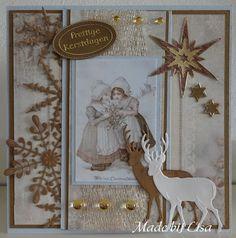 Voorbeeldkaart - Prettige Kerstdagen - Categorie: Scrapkaarten - Hobbyjournaal uw hobby website