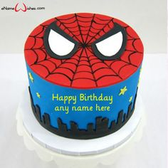 Write name on Spider Man Birthday Cake with Name with Name And Wishes Images and create free Online And Wishes Images with name online. Spiderman Birthday Cake, Birthday Cakes For Men, Superhero Cake, Star Wars Birthday, Star Wars Party, Cake Birthday, Minecraft Cake, Lego Cake, Minecraft Houses