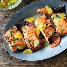 Broiled Lemon-Honey Arctic Char with Citrus Sauce Recipe on Food52 recipe on Food52 Salmon Recipes, Seafood Recipes, Fish Recipes, Healthy Recipes, Citrus Sauce Recipe, Arctic Char, Food52 Recipes, Cooking Recipes, Grain Salad