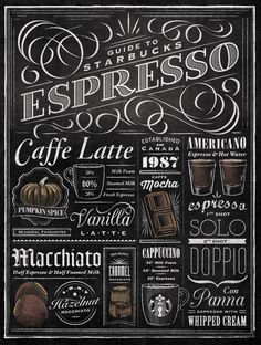 Typography for Starbucks of Toronto : designer Jaymie McAmmond