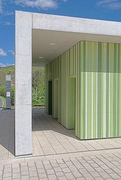 pavilion building by LEHEN drei architects