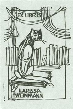 Another cat-themed ex libris