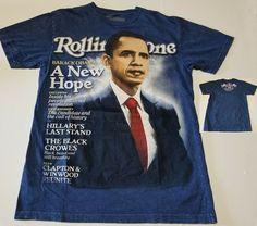 ba9a0446c940 Vintage Rolling Stone Collection 2009 President Barack Obama T-Shirt Men  Large #RollingStoneCollection #
