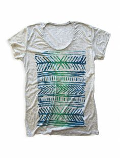 LINES LOOSE T | OAT HEATHER, $44.99 by Camp Brand Goods