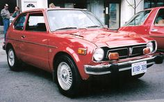 My 4th car, 1973 Honda Civic. Had a blown gasket. Needed a quart of oil 2x a week....
