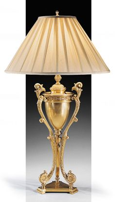 solid brass table lamp with Greek urn design