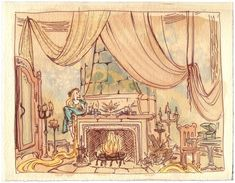 Tangled Concept Art - fireplace002