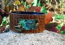 'Sing Your Song' Brown Cuff