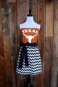 University of Texas Longhorns Game Day Dress  - Size Medium/Large on Etsy, $50.00