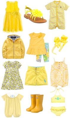'Walking on Sunshine' Fashion! (Cute yellow clothes for kids) www.merrimentstyle.com