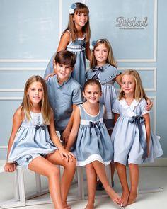 Deseando mostraros nuestra colección para el año que viene, acabo de recibir nuestras primeras imágenes del reportaje que siempre hacen @garciasfotografosburriana para mi. Cada año me sorprenden más con su gusto para captar momentos preciosos y hacer que todo nuestro trabajo luzca de una manera especial 😍. Me encanta el color elegido este año, turquesas y azules para camisones y pijamas que visten Julia, Rocío, Víctor, Marina, Laura y Lucía, unos modelos que colaboraron y se portaron ... Cute Girl Dresses, Little Girl Dresses, Baby Girl Fashion, Kids Fashion, Childrens Pyjamas, Layering Outfits, Tween Girls, Baby Dress, Kids Outfits