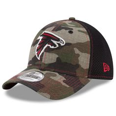 3d2a673e9af Atlanta Falcons New Era Woodland Shock Stitch Neo 39THIRTY Flex Hat - Camo