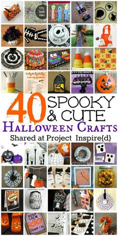 40 spooky and cute halloween crafts