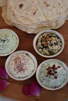 Persian Dips: Eggplant Borani. Mast-O Sersem. Spinach Borani .