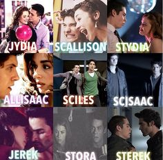 Allisaac, Sciles, and Jerek I'm not fond of but I love the others!