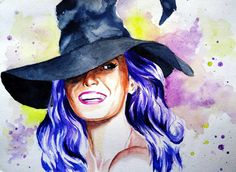 Witch Sketch Watercolor