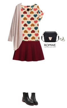 """Romwe skirt"" by bondril ❤ liked on Polyvore featuring women's clothing, women, female, woman, misses, juniors, contest, skirt and romwe"