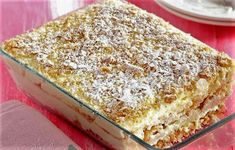 Greek Sweets, Greek Desserts, Summer Desserts, Greek Recipes, No Bake Desserts, Easy Desserts, Best Dessert Recipes, Candy Recipes, Dessert Ideas