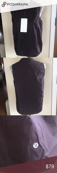 New Lululemon Like The Wind Vest Brand new with tag. Color pelt. Size 8. lululemon athletica Other