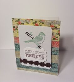 Used scraps from bramble rose paper by mme