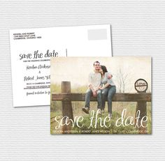 Printable Save the Date Postcard  Vintage by BelleHanahPaperie, $17.00