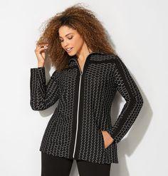 Textured Wave Active Jacket,