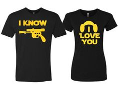 I Love You, I Know Couples Shirts with Gold Print