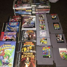 Shared by retroshred #nes #microhobbit (o) http://ift.tt/1THwxXH #pickups from #yardsales last week and random #goodwill stops during the week. #metroid #tombraider #wallstreetkid #casinokid #hydlide #astyanax #superman #timesplitters #mlbtheshow #bloodwake #mechassault #sonicspinball #sega #playstation #nintendo  #n64 #wii #ps3 #xbox #xbox360 #nintendo64 #retrogames #retrocollective #retrogaming #metroidprime