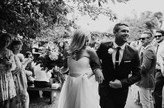 Stunning Emma + Matt  Photos: Justin Aaron Weddings Bridal gown 'Paige'  Karen Willis Jolmes