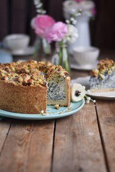 Mohn Streusel Quark Kuchen - Poppy Seed Crumble Cheesecake (10)