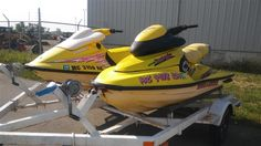 www.M37Auction.com: 2 Bombardier Sea Doo Jet Ski's With Trailer (1997 & 1996 Models) - Clear Title & Registration