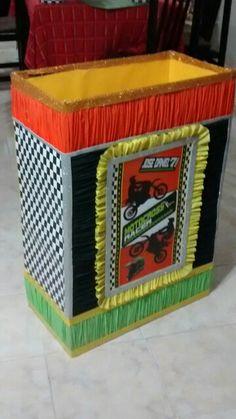 "Caja para regalos ""Motocross"" Motocross, Diy Party, Gift Boxes, Decorated Boxes, Presents, Dirt Biking, Dirt Bikes"