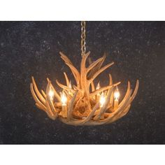 Whitetail 9 Antler Cascade Chandelier | Antler Chandeliers | Antlers Etc - Rustic Cabin, Lodge & Hunting Decor