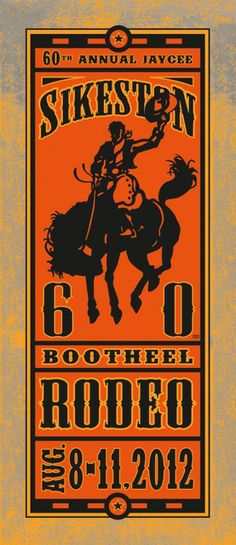 Nice use of color, space and wood type effect.  Ted Wright | Sikeston Rodeo 60th Anniversary