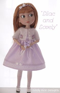 """""""Lilac and Lovely"""", a hand made ensemble for Wilde Imagination's Patience dolls, cindyricedesigns.com"""