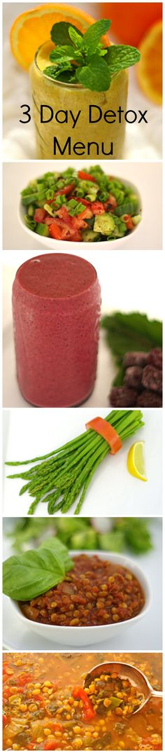 3 Day Detox Menu - A step by step, easy 3 day menu plan for weight loss and detox. Use this every time you want to loose weight and feel healthy. Click here for more healthy, delicious gluten free recipes from The Cave Woman.  http://www.goingcavewoman.com/3-day-detox-menu #detox #weightloss #glutenfree