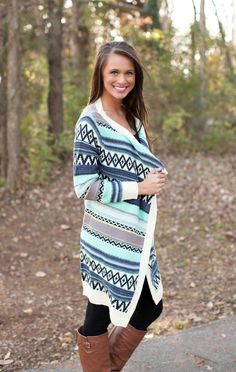 The Pink Lily Boutique - On Top Of The World Aztec Cardigan SALE!!!, $35.00 (http://thepinklilyboutique.com/on-top-of-the-world-aztec-cardigan-sale/)