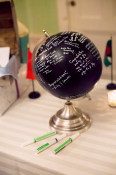 Such an awesome idea for those who love to travel: a global guestbook
