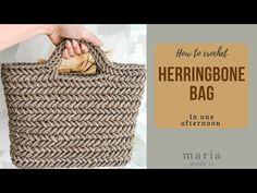 Πλεκτή Τσάντα με πλέξη Ψαροκόκκαλο. - YouTube Crochet Craft Fair, Diy Crochet, Crochet Crafts, Crochet Handbags, Crochet Purses, Crochet Numbers, Crochet Bag Tutorials, Crochet Market Bag, Knitted Bags