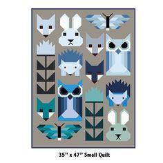 Patterns by Elizabeth Hartman — FANCY FOREST pdf quilt pattern