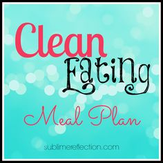 clean eating meal plan