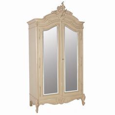 Normandy 2-Door Mirrored Shabby Chic Armoire by The French Bedroom Company
