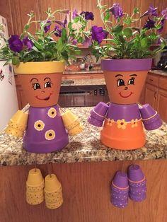 Resultado de imagen para flower pot people