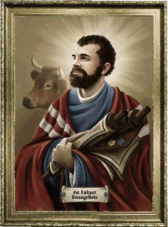 The Catholic Church celebrates the feast of October 18 one of the Evangelists, St. Luke, the patron saint of doctors and artists, the author of Acts. Patron Saint Of Doctors, Luke The Evangelist, St Luke, Daily Pictures, Patron Saints, Catholic, October, Romance, Author
