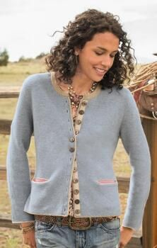 Classic, with a touch of fun, this is the kind of merino wool cardigan that you could wear with anything.