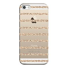 iPhone 6 Plus/6/5/5s/5c Case - GATSBY GOLD GLITTER STRIPE PARTY... ($35) ❤ liked on Polyvore featuring accessories, tech accessories, phone cases, phones, iphone, cases, iphone case, apple iphone case, clear iphone case and slim iphone case