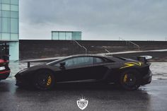 Lamborghini Aventador Super Veloce Coupe painted in Nero Aldebaran w/ yellow accents and brake calipers  Photo taken by: Unknown