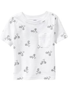 Patterned Pocket Tees for Baby